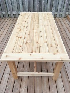 Sara Ashley Home - Patio Table - Ideas of Patio Table - Sara Ashley. - Sara Ashley Home – Patio Table – Ideas of Patio Table – Sara Ashley Home Sie sind - Diy Dining Table, Patio Dining, Outdoor Dining, Outdoor Wood Table, Patio Tables, Dining Room, Dyi Kitchen Table, Diy Outdoor Furniture, Rustic Furniture