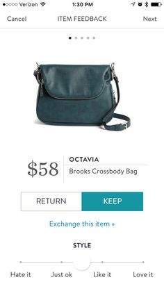 Stitch Fix #4-Octavia Brooks Crossbody Bag - teal - Stitch Fix 2017. It's a beautiful dark teal with zipper details. I don't own a purse so was happy to get this one in my Jan Xmas fix.