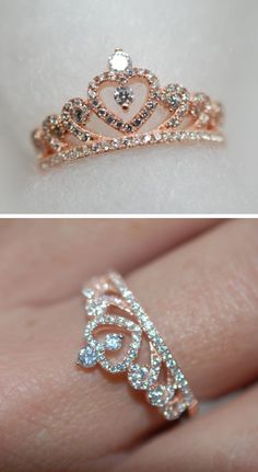 Engagement Rings Ideas & Trends 2017 - DISCOVER Princess crown ring Discovred by. - Engagement Rings Ideas & Trends 2017 – DISCOVER Princess crown ring Discovred by : ning ning - Cute Rings, Pretty Rings, Beautiful Rings, Beautiful Pictures, Cute Jewelry, Jewelry Rings, Jewelry Accessories, Pandora Jewelry, Crown Rings Pandora
