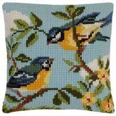 Gallery.ru / Фото #20 - ВЪЗГЛАВНИЦИ - vodolei Cross Stitch Bird, Simple Cross Stitch, Cross Stitch Animals, Cross Stitch Designs, Cross Stitch Embroidery, Cross Stitch Patterns, Cross Stitch Cushion, Tapestry Weaving, Needlework