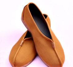 [Size 35-45] Traditional Yellow Shaolin Monk Kung Fu Shoes