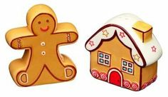 Christmas Fayre Ceramic Gingerbread Themed Salt and Pepper Set by Kitchen Craft. $11.99. KCCFSNP Features: -Material: Ceramic. -Gingerbread themed. -Perfect for bringing a smile to the Christmas table or worktop. -Gift boxed.
