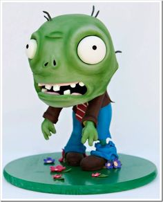 Plants vs. Zombies Cake made by Sweet on Cake