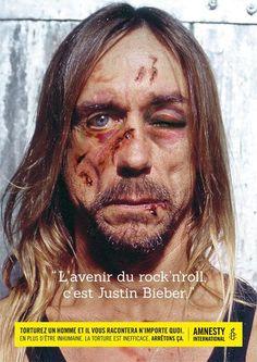 Tortura a un hombre y te dirá cualquier cosa: Iggy Pop: El futuro del Rock & Roll es Justin Bieber. @amnistiaespana pic.twitter.com/zbjMPJ1LBr
