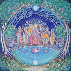 Moonlight Bliss by Jaya Reed  today i like the colors a lot and also the rounded lines.