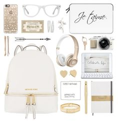 |Golden girl by alexandra-provenzano on Polyvore featuring polyvore, fashion, style, MICHAEL Michael Kors, Michael Kors, Kate Spade, Casetify, Muse, Logitech, Madewell, Forever 21, Maison Margiela, Parker, Pier 1 Imports, women's clothing, women's fashion, women, female, woman, misses and juniors