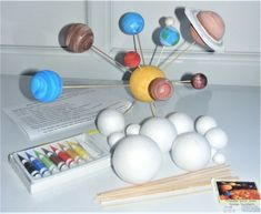 Make Your Own Sweet Trees 5 x or Polystyrene Spheres & Wooden Rods. Solar System Model, Solar System Kit, Art And Craft, Toy Craft, Craft Kits, Lampshade Kits, Home Decoration Brands, Solar System Crafts, Puzzle Crafts