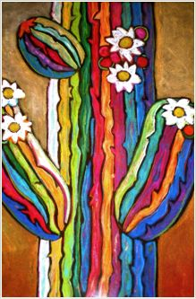Art Deco Cactus by   Jenny Willigrod                                                                                                                                                                                 More
