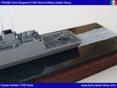 FREMM Carlo Bergamini F590 Frigate,  Italian Navy / Marina Militare, 1/700 Scale Model Ship