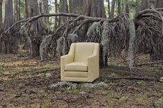 Mayo Furniture 4000F Fabric Swivel Glider - Underwood Citrine