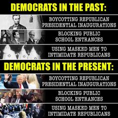 History repeats itself. When did the Democrats, the party that hated blacks and tried to keep them slaves, become the savior of the black and poor. WAKE UP PEOPLE and quit being sheep. Read your History books!