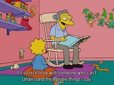"""""""moe"""" - The Simpsons Way of Life Simpsons Funny, Simpsons Quotes, The Simpsons, Reaction Pictures, Funny Pictures, Funny Pics, Simpsons Characters, Futurama, Cover Pics"""