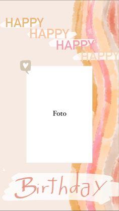Happy Birthday Template, Happy Birthday Frame, Happy Birthday Wallpaper, Birthday Posts, Birthday Frames, Creative Instagram Photo Ideas, Instagram Photo Editing, Instagram Blog, Instagram Story Ideas