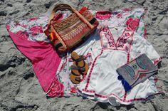 Floral Print & Fringed Beach Towel Blanket