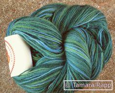 Wolle & Garn - LakeSeries 1 - handgefärbte Sockenwolle - ein Designerstück von HerzKoenigin bei DaWanda