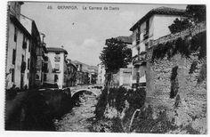 tarjeta postal abelardo linares granada carrera del darro - Foto 1
