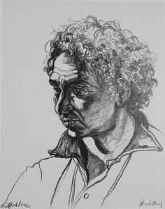 Jack Beal, portrait of Alfred Leslie 1977 Charcoal Portraits, Faces, Draw, Illustration, To Draw, The Face, Sketches, Illustrations, Painting
