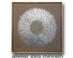 Abstrakte Malerei - Handgemaltes Original - Strukturgemälde auf Holzkeilrahmen - 63,5 x 63,5 x 3,5 cm - inkl. Schattenfugenrahmen - Unikat