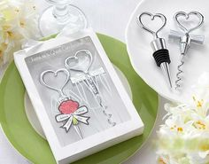 Bride and Bridegroom Bottle Stopper and Opener Double Hearts Wine Wedding Favor Obsequios Boda Wedding Souvenir Wedding Favors And Gifts, Bridal Gifts, Gift Wedding, Wedding Ideas, Wine Opener Set, Wine Bottle Stoppers, Bottle Openers, Wedding Supplies, Party Supplies