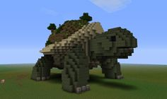 """""""Creatures: Giant Tortoise Minecraft Project Not a world wonder but a really cool idea for my little Guy. Minecraft Garden, Minecraft Statues, Minecraft Structures, Minecraft Medieval, Cute Minecraft Houses, Minecraft City, Minecraft Plans, Minecraft Tutorial, Minecraft Blueprints"""