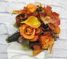 A truly vibrant presentation of oranges, browns