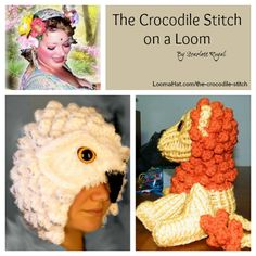 Free Loom Knit Pattern and Video of the Crocodile Stitch