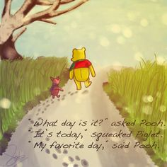 Awakenings: Cuddle with Pooh   Everyday we awaken to a sunrise should be a favorite day regardless whether rainy or sunshine. It is a new day. A new beginning. A birthday, an anniversary for someone somewhere. It just so happens a very special birthday is celebrated on this day. January 18 is Winnie the Pooh day!
