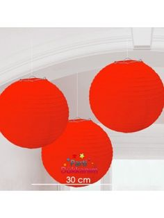 Kırmızı Yuvarlak Fener Süs 1 adet (30 cm)
