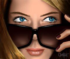Ilustración realista, rostro chica 2