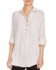 Faithfull the Brand Stevie Lace-Up Tunic | Bloomingdale's