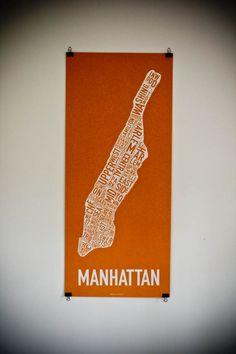 DIY Poster Hangers - binder clips