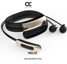 @ashleychloeinc HelixCuff-Black Gold: The World's First Wearable Cuff with Stereo Bluetooth Headphones designed by Mika Nenonen Former Lead Industrial Designer at Nokia and Nest #HelixCuff #ashleychloe #technology www.ashleychloe.com