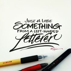 Inspiring hand lettering by Matthew Tapia - follow link for more beautiful examples