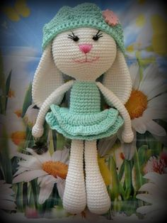 """Free Pattern.....website translated says """"knitted"""" incorrect....this cute bunny is crocheted."""