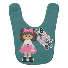 Beautiful Retro 50s Custom Baby Bib