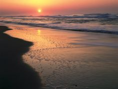 Sunrise over Outer Banks, Cape Hatteras National Seashore, North Carolina, USA