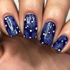 Wintery blue snowflakes!