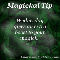 Magickal Tip - Get a Boost on Wednesday – Charissa's Cauldron