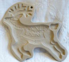 Brown Bag Cookie Art Mold 1992 Hill Design Reindeer Christmas Rudolph | eBay