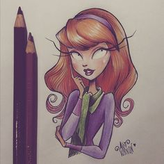 Drawings of Saturday night... Daphne from Scooby Doo  @cartoonnetworkbrasil • @scoobydoo  #scoobydoo #daphne