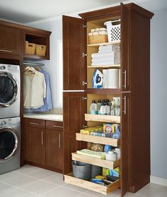 Supply cabinet | Smelly Towels? | Stinky Laundry? | Washer Odor? | http://WasherFan.com | Permanently Eliminate or Prevent Washer & Laundry Odor with Washer Fan™ Breeze™ | #Laundry #WasherOdor #SWS