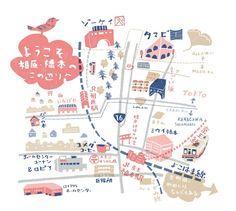 相原駅・橋本駅周辺の地図。 いってしまえば僕のご近所地図であります。 仕事では全く無い趣味で描いたものです。