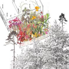 your search-ability School of Constructed Environments at ParsonsSchool of Constructed Environments at Parsons Architecture Collage, Landscape Architecture Design, Architecture Drawings, Villa Tugendhat, Landscape Diagram, Landscape Drawings, Oeuvre D'art, Drawing Sketches, Planer