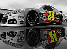 Jeff Gordon #24. One of the few drivers that wasn't intimidated by, The Intimidator. Next Season without Gordon behind the wheel of the #24 car...   weird.
