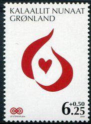 Francobolli - Lotta contro il cancro - Fight against cancer Groenlandia 2009