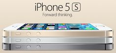 APPLE  :: The iPhone 5s (2013) - With a new fingerprint identity sensor, 64-bit A7 chip, and an even more impressive iSight camera, iPhone 5s is forward thinking.