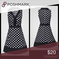 V Neck Polka Dot Skater Dress Occasion: Office/ Night Out. Design: Polka Dot. V neck. Dresses