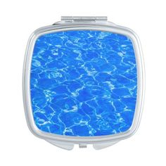 Fresh Blue Water Makeup Mirror ($23) ❤ liked on Polyvore featuring beauty products, beauty accessories, line and shadow