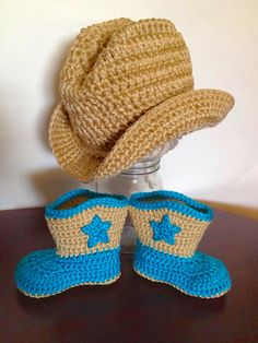 SALE Baby cowboy hat and boot set Western wear photo prop on Etsy, $34.00