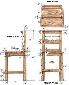 Woodworking plan for Chair. Complete woodworking plans with detail descriptions can be found on my website: www.tedswoodworkplans.com